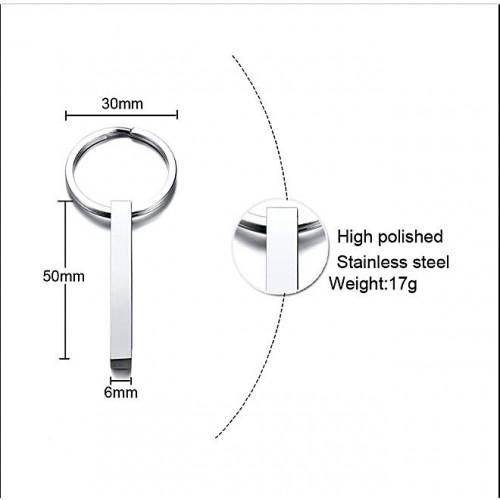 Брелок для ключей из медицинской стали под гравировку