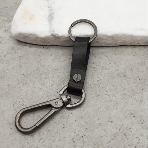 Брелок на ремень кожаный со стальным карабином Фольксваген