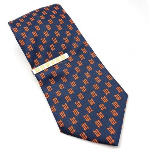 Зажим для галстука с золотистыми вставками