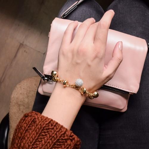 Женский браслет из ювелирной стали с подвесками Эсмине