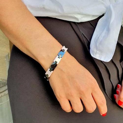 Браслет из керамики на руку с магнитами