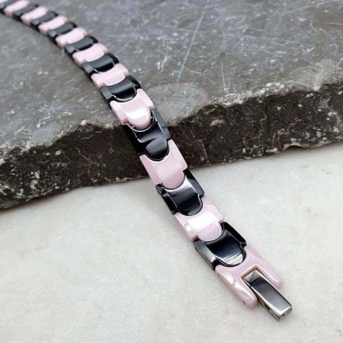 Керамический браслет с застежкой из медицинской стали и магнитами