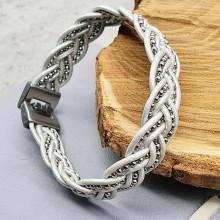 Женские кожаные браслеты Цвет изделия Белый купить №24
