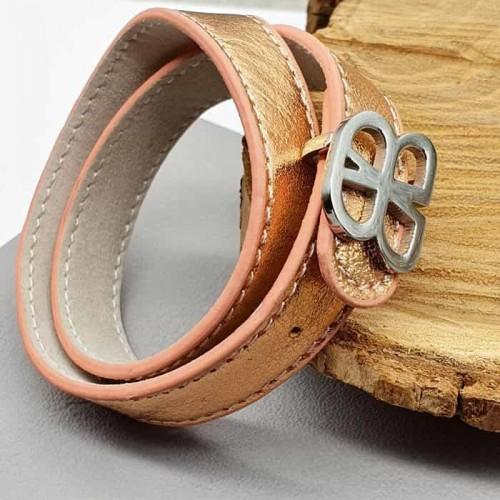 Женский браслет из кожи на два оборота Butterfly