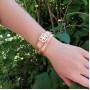 Женский браслет из кожи на два оборота Butterfly купить №5