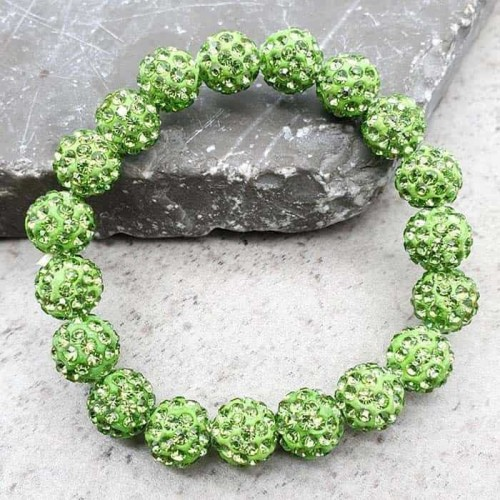 Браслет шамбала Зеленый луг