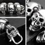 Звеньевой браслет из крупных стальных черепов купить №7