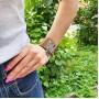 Кожаный браслет со стальной застежкой коричневый купить №3