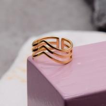 Кольцо из медицинского золота на фалангу женское