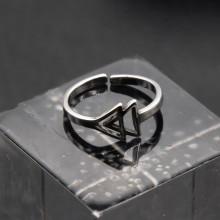 Кольцо из медицинской стали на фалангу Треугольники