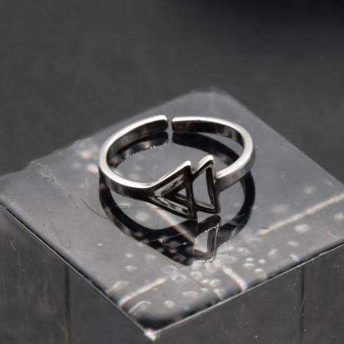 Кольцо из медицинской стали на фалангу Ёлка