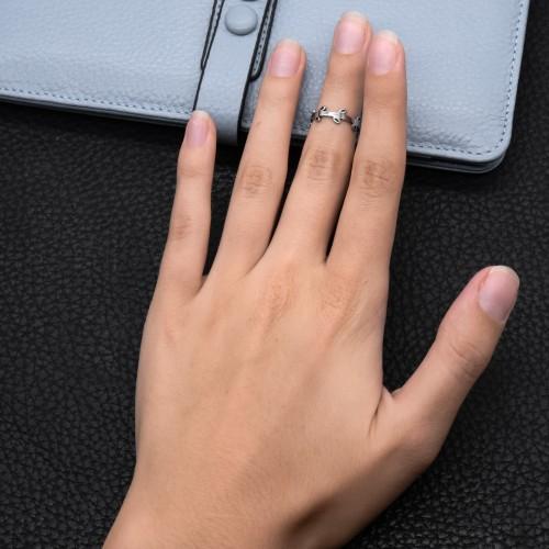 Кольцо на фаланги пальцев женское Венок
