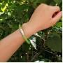 Кожаный браслет со стальной магнитной застежкой Зеленый луг купить №6