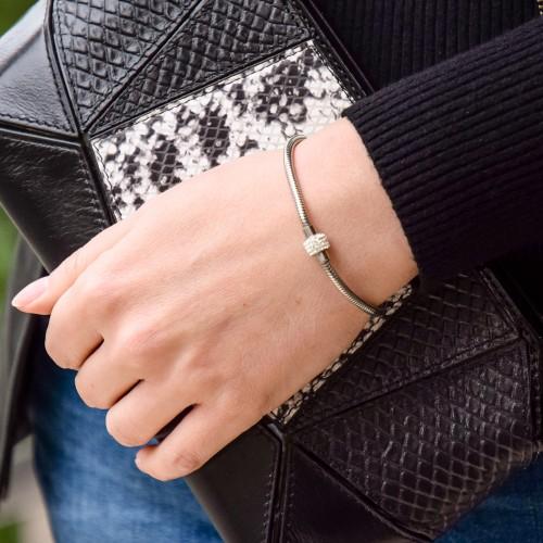 Женский браслет цепочка на руку стальной Мадмуазель Коко