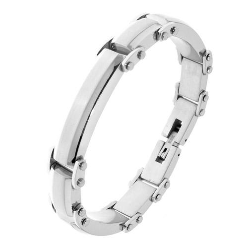 Мужской стальной браслет на руку