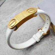 Модный браслет из белой кожи Лили
