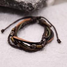 Мужские кожаные браслеты Цвет изделия Коричневый купить №3