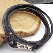 Мужские кожаные браслеты Цвет изделия Коричневый купить №20