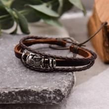 Мужские кожаные браслеты Цвет изделия Коричневый купить №9