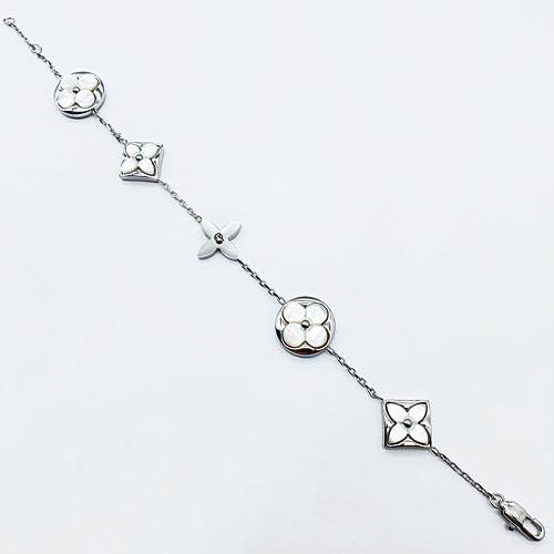 Браслет цепочка Клевер из ювелирной стали на руку