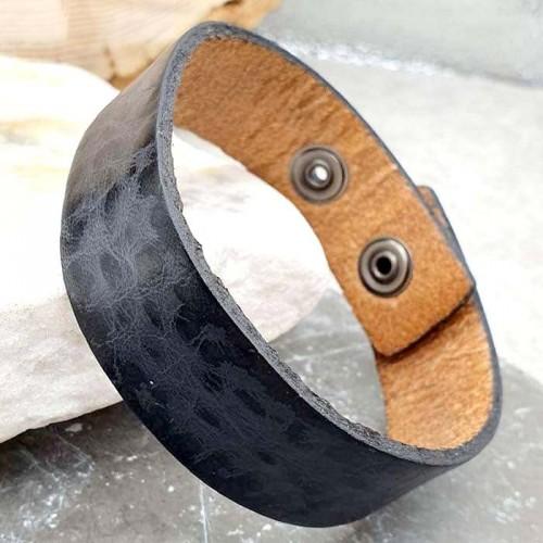 Мужской браслет-напульсник из натуральной кожи
