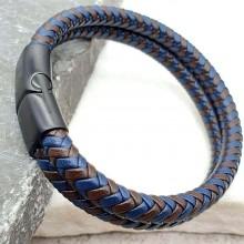 Плетеный кожаный браслет на руку для мужчин Айдан