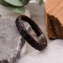 Мужские кожаные браслеты Цвет изделия Коричневый купить №13