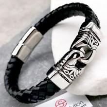Мужской браслет из плетеной кожи Римский легат