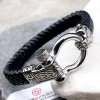 Мужской браслет из плетеной кожи Гейрмунд