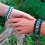 Эластичный браслет-бусы из натурального камня унисекс Корона