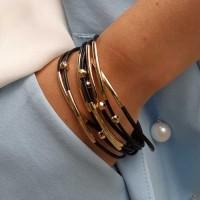 Элегантный женский браслет из текстильных шнуров бижутерия