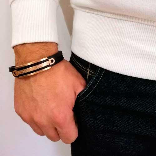 мужской кожаный браслет омега купить в интернет магазине по низкой
