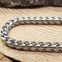 Мужской браслет из стали в виде цепочки с панцирным плетением