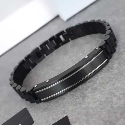 Мужской браслет business casual из стали Коловрат в двух вариантах