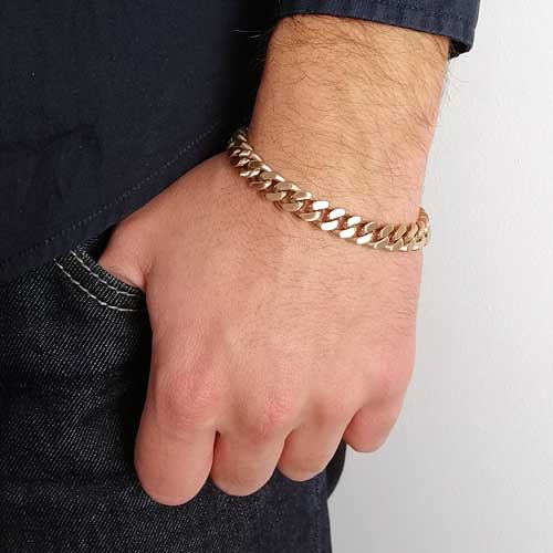 Мужской браслет из стали smart casual цепочка панцирное плетение в трех цветах