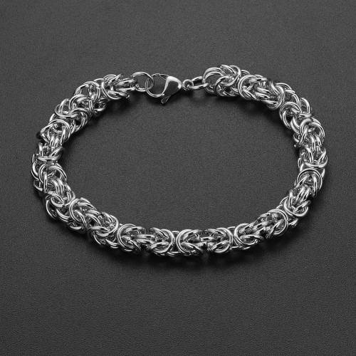 Мужской браслет из стали в виде цепочки Лисий хвост