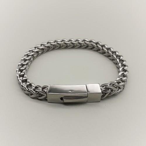 Браслет мужской в виде цепочки на руку медицинская сталь