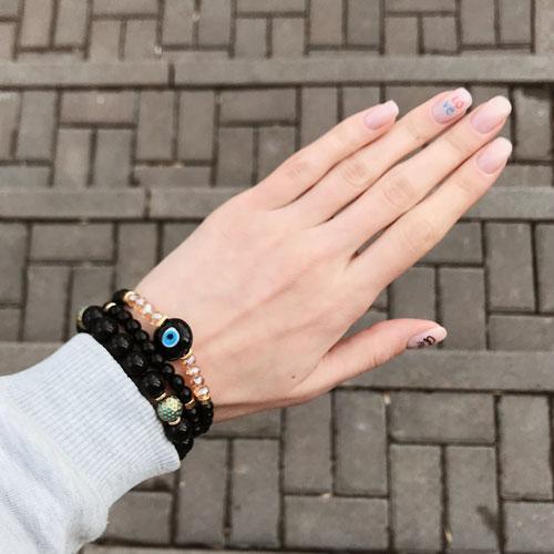 Эластичные браслеты из натурального камня Назар бонджук