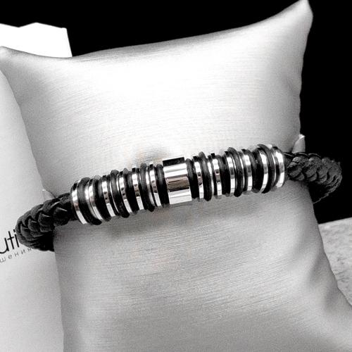 Мужской браслет из плетеной кожи Дориан Грей