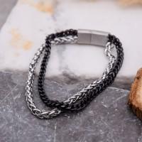 Стальной браслет на руку мужская цепь smart casual Криптид
