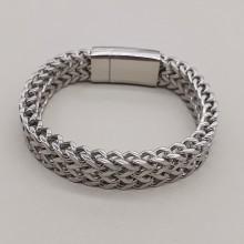 Мужской браслет из стали в виде цепочки