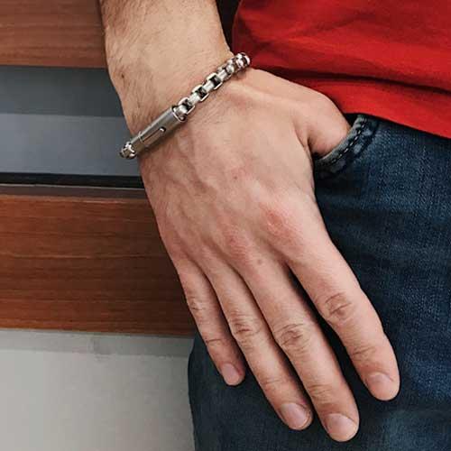 Мужской браслет из стали Воланд в двух цветах