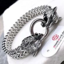 Стальной браслет для мужчин smart casual Волки