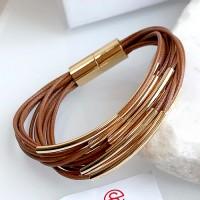 Браслет из текстильных шнуров Сеона коричневый женский бижутерия
