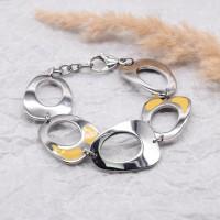 Женский браслет с эмалью Желтый лепесток