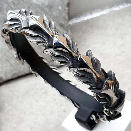 Браслет стальные звенья в виде чешуи дракона