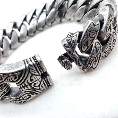 Браслет из хирургической стали на руку с кельтским орнаментом