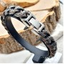 Массивный стальной браслет мужской Конан-варвар