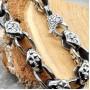 Байкерский стальной браслет с мальтийскими крестами купить №7