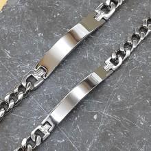 Браслеты стальные под индивидуальную гравировку в двух размерах